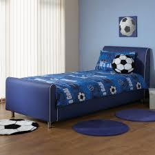 A & I Beds Azure Boys Faux Leather Bedstead - 3FT Single - Blue:  Amazon.co.uk: Kitchen & Home