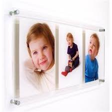 acrylic photo poster frame wall mounted with stand offs