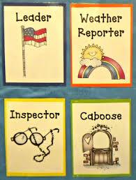 Helper Charts For Preschool With Pictures Preschool Classroom Jobs