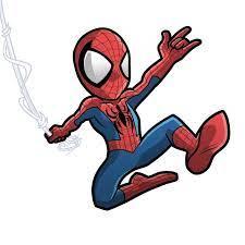 spider man cartoon drawing at