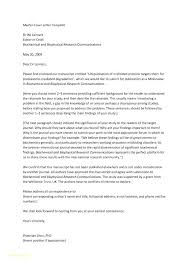 Academic Article Submission Cover Letter Journal Example For Nal