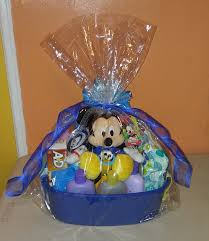 mickey mouse baby basket for baby shower