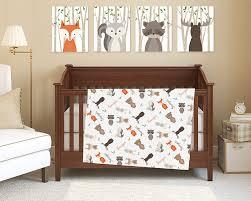 woodland nursery bedding style