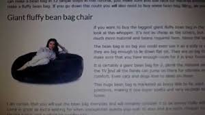 giant fluffy bean bag biggest one in uk revealed beanbags