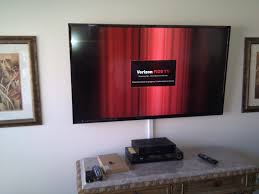 TV Installation with wires concealed in wire molding