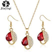 fashion korean style red stone jewelry set jpg