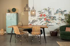 cuckooland patterned wall dining room for an easy way to update your dining room without the need to splash out on new furniture decorating