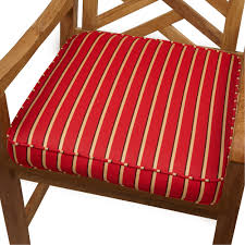 Exterior Red Sunbrella Replacement Cushions With Sunbrella