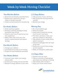 Week By Week Moving Checklist Best Tips For Moving And