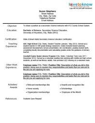 Preschool Teacher Resume Objective Best Resume Collection