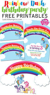 Free Downloads Thank You Cards Free Mlp Rainbow Dash Birthday Party Printables