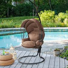 barton brown patio hanging egg swing