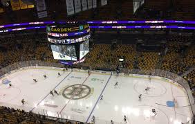 the sabres and bruins met in td garden saay their third meeting of the season