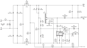 electronics and electrical engineering design news eeweb community schematic 25 w high efficiency high power factor non isolated buck