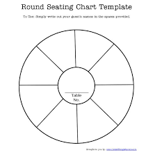 Blank Wedding Seating Chart Template Free Printable Round Seating Chart Template For