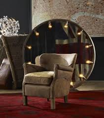 timothy oulton scarecrow leather armshair mad professor chair shown in scarecrow black