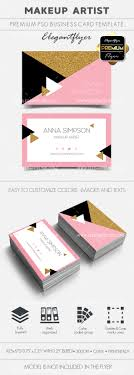 makeup artist premium business card templates psd