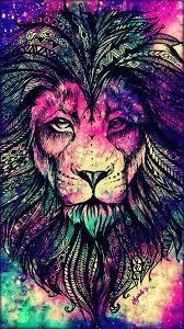 Rainbow Lion Galaxy Wallpaper ...