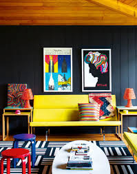 Yellow And Blue Living Room Royal Blue Paint Color For Boho Chic Living Room With A Yellow