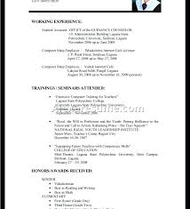 Undergraduate Student Resume Examples Astounding Resume Format For