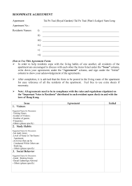 House Rules For Roommates Template 40 Free Roommate Agreement Templates Forms Word Pdf