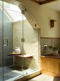 slope ceiling bathroom ideas walk in shower ceiling wall shower lighting