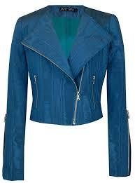 blue moto jacket cadet moire banana republic leather