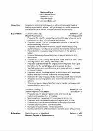 Payroll Accountant Resume Cosy Payroll Accountant Resume For Junior Accountant Resume 21