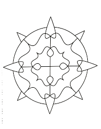 Simple Mandala With Some Thorns Easy Mandalas For Kids 100