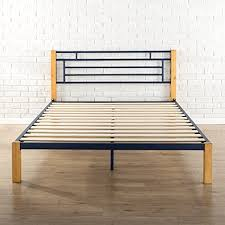 zinus metal and wood platform bed. Interesting Bed Amazoncom Zinus Epic Metal U0026 Wood Platform BedMattress FoundationWood  Slat Support King Kitchen Dining In And Bed N