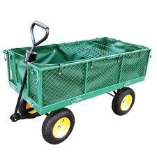 sentinel foxhunter heavy duty extra large garden trolley cart wheelbarrow removable shelf
