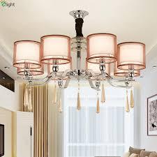 modern chrome metal led chandeliers lighting crystal dining room led pendant chandelier lights living room hanging lamp fixtures simple chandelier ship