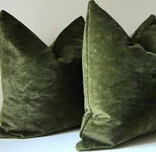 green velvet pillow. Green Velvet Pillows Moss Set Of Two Decorative Pillow Covers