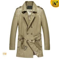 mens mid length leather coat cw850811 cwmalls com