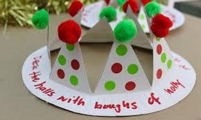 Christmas Craft Christmas Craft How To Make A Christmas Crown Youtube