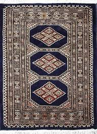 details about traditional handmade oriental bokhara area rug blue color 100 wool rugs 3 x 5