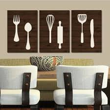 kitchen wall art canvas or print wood utensils decor fork spo