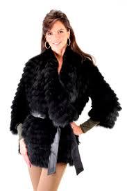 30 byte by teso black fox organza blend fur coat size s 42