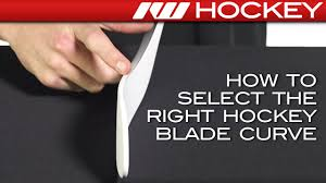 Easton Hockey Blade Curve Chart How To Select The Right Hockey Blade Curve