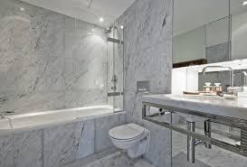 Carrara Marble Tile White Bathroom contemporary-bathroom