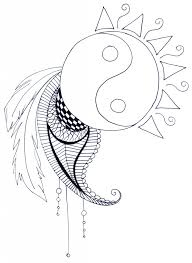 Free Coloring Pages For Adults Coloring Pages Yin Yang In Coloring