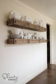 diy floating shelf plans and tutorial by shanty2chic