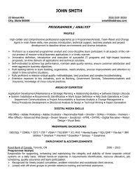 sample resume entry level programmer   resume and cover letter    sample resume entry level programmer sas programmer resume best sample resume program analyst resume template premium