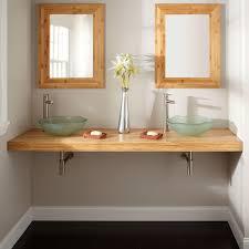bamboo vanity bathroom