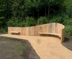 bespoke curved sleeper wall with
