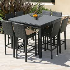 image of new bar height outdoor table