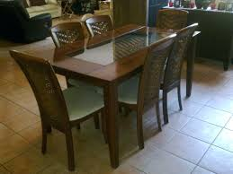 seemly glass and wood dining table glass and wood dining table canada
