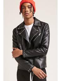 men s leather biker jackets fromforever 21