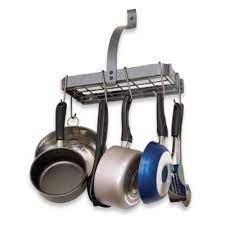 wall mounted pot rack from bed bath