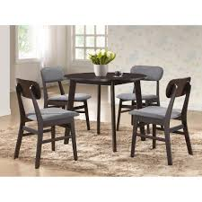 Baxton Studio Debbie 5 Piece Gray Fabric Upholstered Dining Set 6210